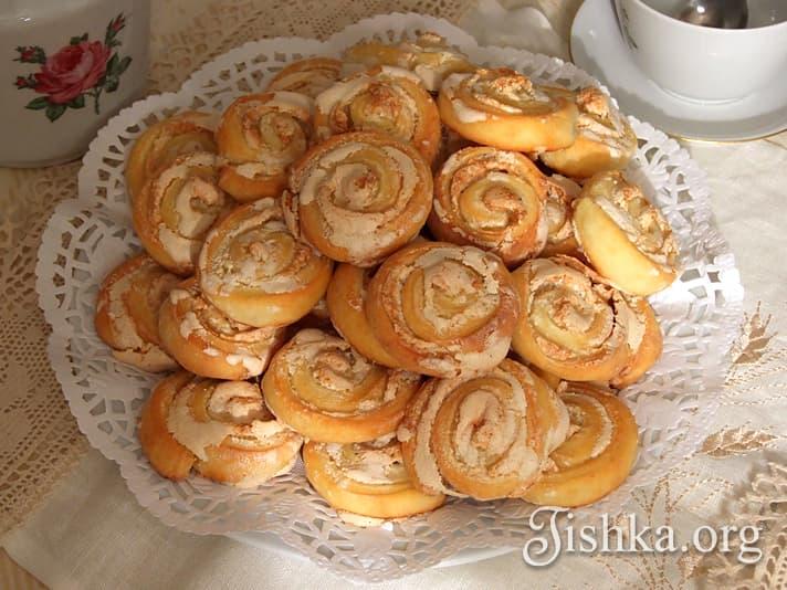"""Печенье """"Чайные розочки """" - пошаговый рецепт с фото на Готовим дома"""