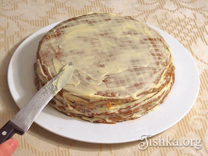 торт печеночный куриный рецепт с фото пошагово