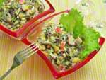 Салат из морской капусты с крабовыми палочками. Пошаговый фоторецепт.