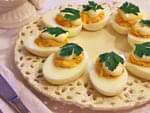 Фаршированные яйца (лук и морковь). Пошаговый фоторецепт.