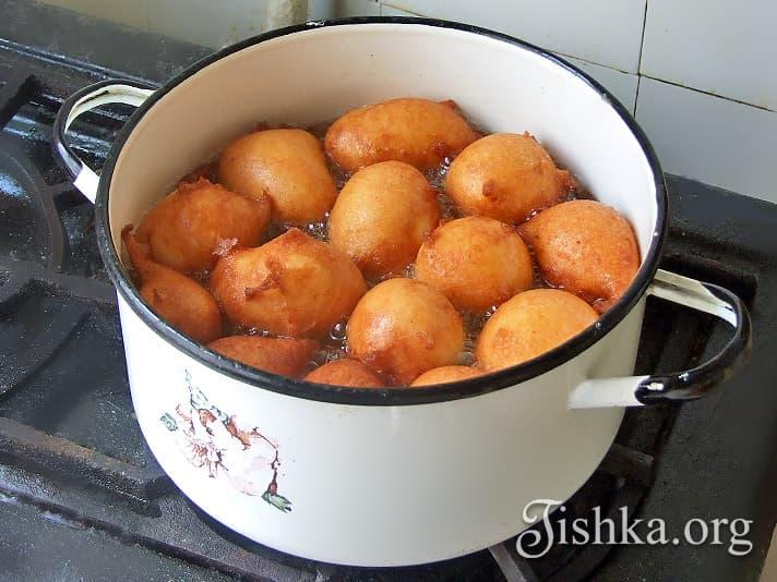 пончики со сгущенкой рецепт пошаговый с фото