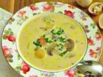 Грибной суп с молоком. Пошаговый фоторецепт.