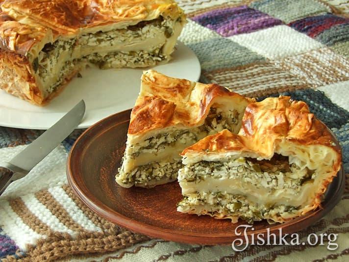 пирог из лаваша с сыром в духовке рецепт с фото