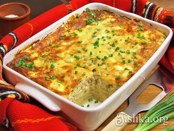 Картофельная запеканка и сливками