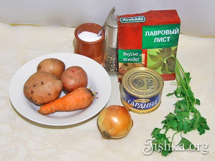 Рыбный суп из консервы пошаговый рецепт