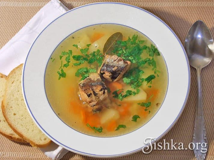 суп с рыбной консервой рецепт с фото