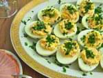 Фаршированные яйца (ветчина и сырок). Пошаговый фоторецепт.