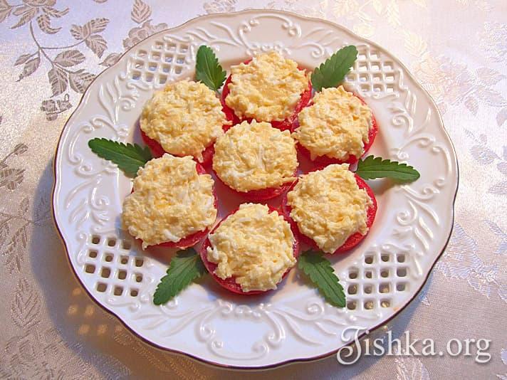 Закуски с помидорами - рецепты с фото 82
